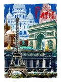Rainbow Paris France 2 Giclee Print by Victoria Hues