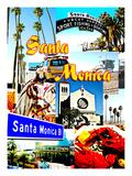 Visit Santa Monica 2 Giclee Print by Victoria Hues
