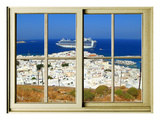 View from the Window at Mykonos Island 1 Giclee Print by Anna Siena