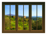View from the Window Castello Di Ripa D'Orcia, Tuscany Giclee Print by Anna Siena