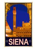 Tower in Siena Italy 2 Wydruk giclee autor Anna Siena