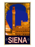 Tower in Siena Italy 2 Giclee Print by Anna Siena