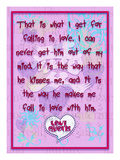 That Is What I Get for Falling in Love Giclee Print by Cathy Cute