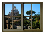View from the Window at Vatican Garden 1 Giclee Print by Anna Siena
