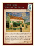 Letter from Vincent: White House at Night Impressão giclée por Vincent van Gogh