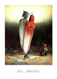 Gil Bruvel Les Amours Litteraires The Literary Lovers Art Print Poster Posters