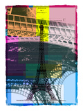 Black Eiffel Tower Paris in Green Giclee Print by Victoria Hues