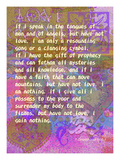1 Corinthians 13:1-3 Giclee Print by Cathy Cute