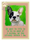 Green French Bulldog Giclee Print by Cathy Cute