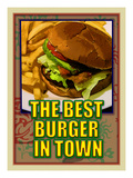 The Best Burger in Town Giclee Print by Cathy Cute