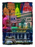Rainbow Paris France 1 Giclee Print by Victoria Hues