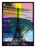 Eiffel Tower Paris Giclee Print by Victoria Hues