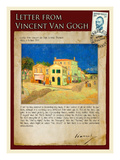 Letter from Vincent: The Yellow House Reproduction procédé giclée par Vincent van Gogh
