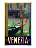 Canal in Venice Italy 3 Reproduction proc&#233;d&#233; gicl&#233;e par Anna Siena