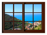 View from the Window at Cinque Terre Giclee Print by Anna Siena
