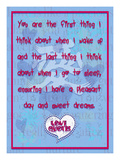 You are the First Thing I Think About Giclee Print by Cathy Cute