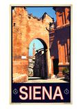 Tower in Siena Italy 1 Impression giclée par Anna Siena