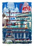 Rainbow Paris France 3 Giclee Print by Victoria Hues