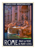 Trevi Fountain, Roma Italy 4 Giclee Print by Anna Siena