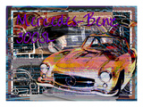 Mercedes Benz 300 Sl Giclee Print by Victoria Hues