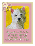 Yellow Westie Giclee Print by Cathy Cute