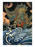 Dragon Wydruk giclee autor Kuniyoshi Utagawa