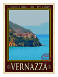 Vernazza Italian Riviera 2 Giclee Print by Anna Siena
