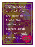 The Greatest Acts of Love Giclee Print by Cathy Cute