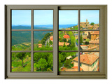 View from the Window at Montalcino, Tuscany Giclée-Druck von Anna Siena