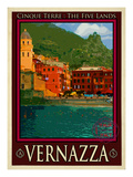 Vernazza Italian Riviera 1 Giclee Print by Anna Siena