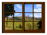 View from the Window at San Gimignano, Tuscany Giclee Print by Anna Siena
