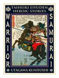 Samurai Aigo Hisamitsu Giclee Print by Kuniyoshi Utagawa