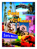 Visit Rainbow Santa Monica 1 Giclee Print by Victoria Hues