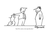 """""""Some pacs, senator, are more super than others.""""  - New Yorker Cartoon Premium Giclee Print by Charles Barsotti"""