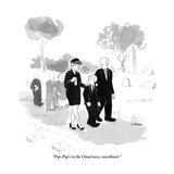 """""""Pop-Pop's in the Cloud now, sweetheart.""""  - New Yorker Cartoon Premium Giclee Print by Emily Flake"""