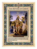 The Baptism of Christ Giclée-Druck von Andrea del Verrocchio