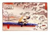 Moso Hunting for Bamboo Shoots Giclee Print by Kuniyoshi Utagawa