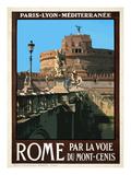 Castel Sant'Angelo, Roma Italy 1 Giclee Print by Anna Siena