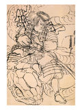 A Samurai Overwhelming a Giant Serpent Giclee Print by Kuniyoshi Utagawa