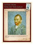 Letter from Vincent: Self-Portrait2 Giclée-tryk af Vincent van Gogh
