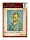Letter from Vincent: Self-Portrait2 Giclee Print by Vincent van Gogh