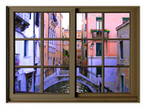 View from the Window over the Canal at Venice Giclee Print by Anna Siena