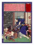 Ukiyo-E Newspaper: the Price of a Love Triangle with a Wife of Sandal Maker Giclee Print by Yoshitoshi Tsukioka