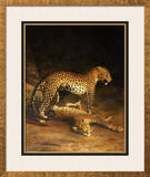 Two Leopards Lying in the Exeter Exchange, 1808 Framed Giclee Print by Jacques-Laurent Agasse