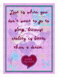 Love Is When You Don'T Want to Go to Sleep Giclee Print by Cathy Cute