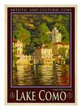 Lake Como Italy 1 Giclée-tryk af Anna Siena