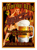 Wildfire Beer Giclee Print by Nomi Saki
