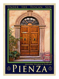 Door in Pienza Tuscany 5 Giclee Print by Anna Siena