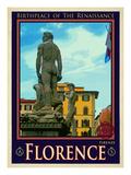 Statue of David, Piazza Della Signoria, Florence Italy 3 Giclee Print by Anna Siena