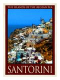 Santorini Greece 1 Giclee Print by Anna Siena